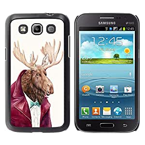- Moose - - Hard Plastic Protective Aluminum Back Case Skin Cover FOR Samsung GALAXY Win I8550 I8552 Queen Pattern