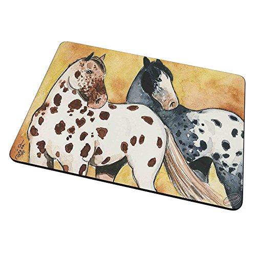 Blanket Appaloosa Horse - Mouse Pad Trivet Hot Plate - Sorrel Leopard and Black Blanket Appaloosas Horse Art by Denise Every