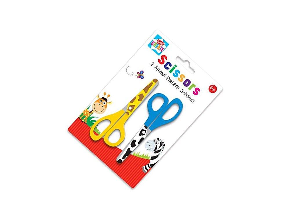 Forbici per Childern, confezione da 2 pezzi, motivo: animali Kids Ceate