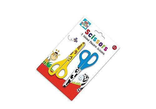 Scissors - For Childern - Pack of 2 - animal pattern