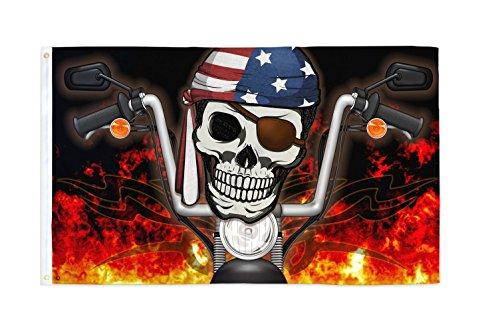 Pirate Biker USA 3x5ft Flag