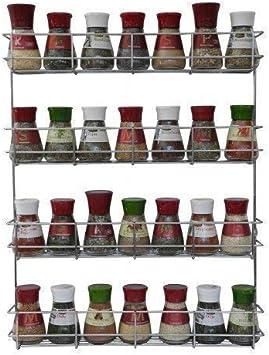 Copa Design Especiero - Especiero Cocina - Organizador Especias con 4 Niveles - Especiero Cocina Pared - Estante Especias para Macetas - Muy Fácil de Instalar - Recipientes para Especias no Incluidos