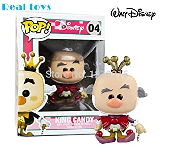Genuine Wreck-it Ralph Candy King Turbo Action Figure Bobble Head Q Edition Box for