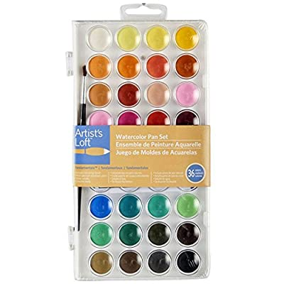 Artists Loft Fundamentals Watercolor Pan Set