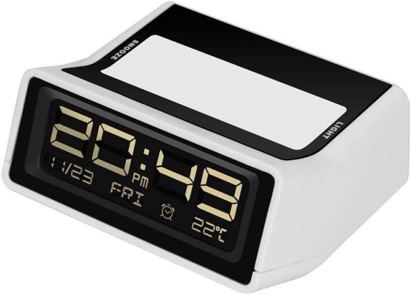 2REMISE Fecha De Temperatura Simple Creativa Reloj Ecológico Compacto Multifunción Ecológico/Reloj Despertador Digital