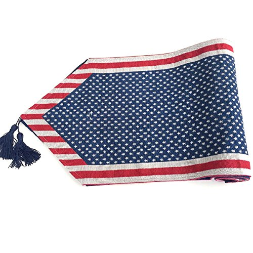 LUOEM Patrioric Tablecloth Table Cover American Flag Tablecloth for 4th of July Veterans Day Banquet Decor Patriotic Party Supplies -