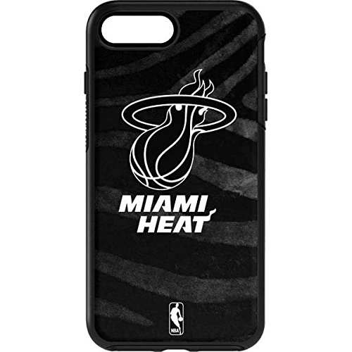 (Skinit Miami Heat Black Animal Print OtterBox Symmetry iPhone 7 Plus Skin for CASE - Officially Licensed NBA Skin for Popular Cases Decal - Ultra Thin, Lightweight Vinyl Decal Protection)