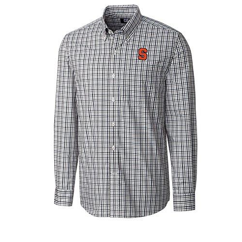 Cutter & Buck NCAA Syracuse Orange Men's Long sleeve Gilman Plaid Shirt, X-Large, Liberty Navy