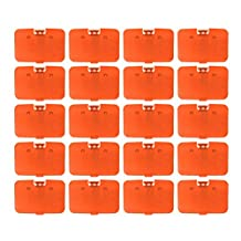 Lot 20 pcs Solid Fire Orange Expansion Pak Lid Cover Nintendo 64 Memory Jumper Expansion N64