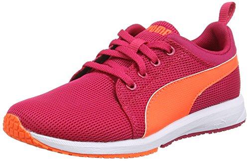 Puma Carson Run Junior - Zapatillas de running Unisex Niños Rojo - Red (Rose Red-Pea)
