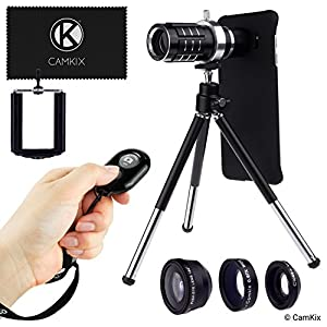 Camera Lens Kit for Samsung Galaxy S7 and S7 Edge - Both cases included - including: 12x Telephoto