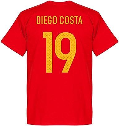 Recuperar España Equipo Diego Costa Equipo Camiseta – Rojo Rojo ...