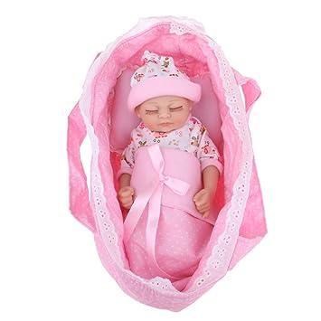 Baoblaze Dulce Set de Princeso Saco de Dormir Cuna de Almahada de Bebé Renacido para 11inch Realista Muñeca Recién Nacida de Bebé - 27cm: Amazon.es: ...