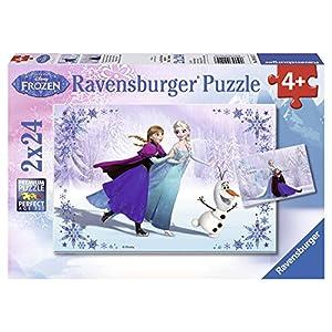 Ravensburger Disney Frozen Sisters Always Puzzle Box 2 x 24 Piece Jigsaw Puzzles for Kids – Every Piece is Unique…