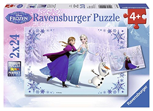 Ravensburger Disney Frozen Sisters Always Puzzle Box 2 x 24 Piece Jigsaw Puzzles for Kids  Every Piece is Unique, Pieces Fit Together Perfectly
