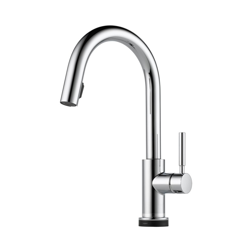 Brizo 64020LF-PC Solna Kitchen Faucet Single Handle with Multi-Functional Pull-Down Sprayer and Smart Touch, Chrome