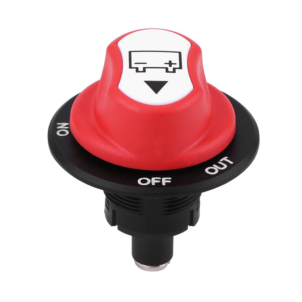 Walfront 50V 50A Cont 75A INT On/Off Battery Disconnect Switch for Cars/Off Road Vehicle/Trucks