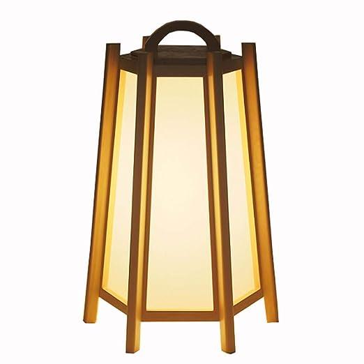 pie de pie Lámparas madera de maciza Lámparas estilo de de mNn08vw