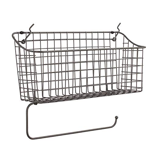 Spectrum Diversified Pegboard/Wall Mount Basket and Paper Towel Holder, Industrial -