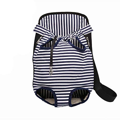 luciphia Pet Carrier Backpack Adjustable Legs Out Front Carrier Bag for Samll Medium Large Dogs Cats Colorful Strip XL
