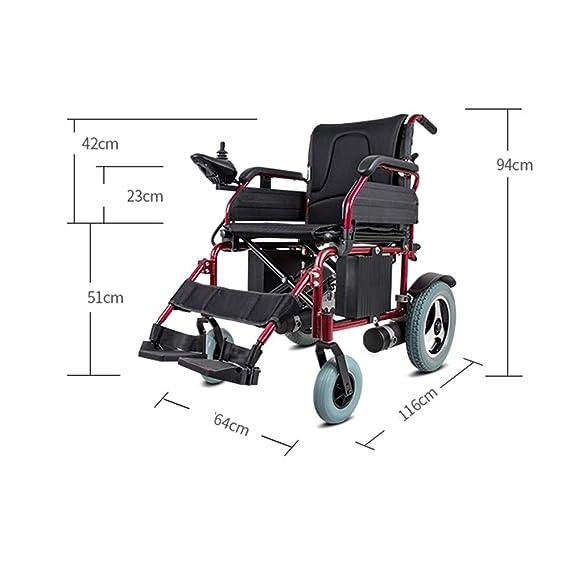 Amazon.com: YOLANDEK Silla de ruedas eléctrica Anciano Coche ...