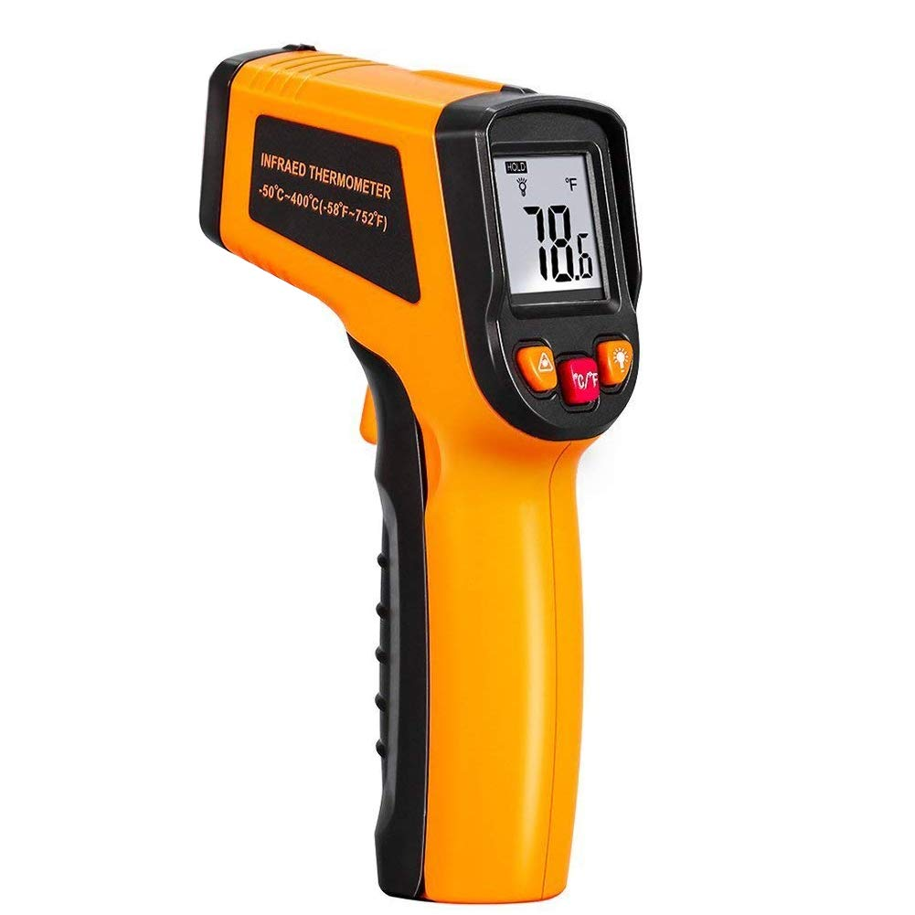 Digital Laser IR Infrared Thermometer, Non Contact Temperature Gun for Kitchen Cooking BBQ Automotive Industrial, with -50℃~400℃(-58℉~752℉) HD Backlight Colorful Display Accuracy Reading (Low Configuration New) youthink us