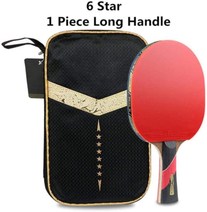 Pala de ping pong pelotas de tenis de mesa, hoja de fibra pegajosa con espinillas, de goma, muy potente