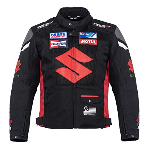 Suzuki Black Textile Motorcycle Jacket (L (EU52-54))
