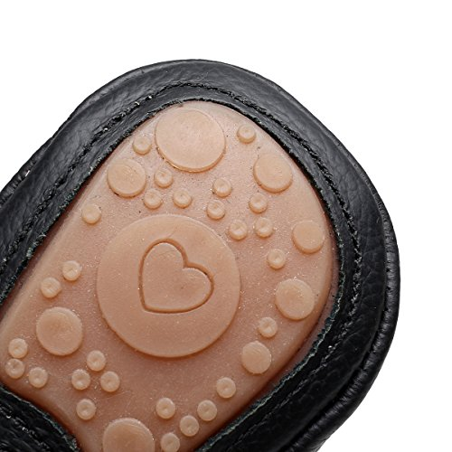 Pictures of HONGTEYA Leather Baby Moccasins Hard Soled Tassel 2