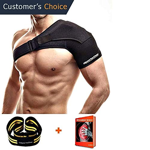 1SportsONE Hip Brace and Groin Support for Men and Women Arthritis Hip Pain Relief Leg Thigh Wrap Sciatica Pain Recovery Stabilizer Adjustable Hip Sleeve with back Support Injury Strap