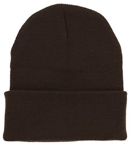Ski Knit (Plain Beanie Knit Ski Cap | Ski Beanie Hats)