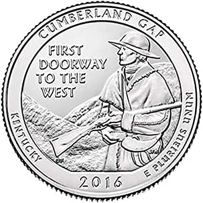 2016 S Clad Proof Cumberland Gap National Park NP Quarter Choice Uncirculated US Mint