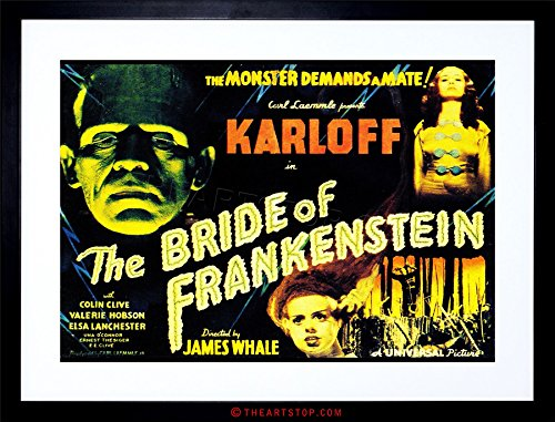 Sequel Poster (MOVIE FILM SEQUEL BRIDE FRANKENSTEIN KARLOFF WHALE HORROR FRAMED PRINT F97X4132)