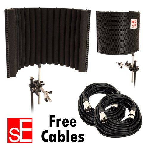 sE Electronics Project Studio Reflexion Filter / FREE (2) XLR MIC CABLES 20FT by PSR