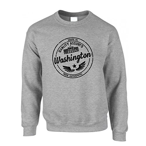 Made In Washington Seattle Bellevue Olympic Park Distressed Sweatshirt.