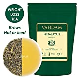 VAHDAM, Green Tea Leaves from Himalayas (50 Cups), 100% Natural Detox Tea, Slimming Tea, Weight Loss Tea, POWERFUL ANTI-OXIDANTS, Brew Hot Tea, Iced Tea or Kombucha Tea, Green Tea Loose Leaf, 3.53oz