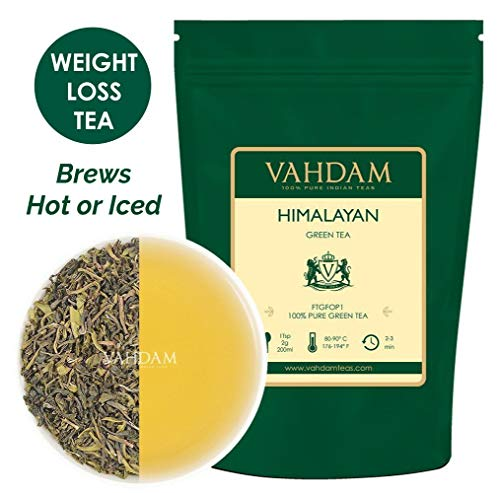 VAHDAM, Green Tea Leaves from Himalayas (50 Cups), 100% Natural Tea, POWERFUL ANTI-OXIDANTS, Brew Hot Tea, Iced...