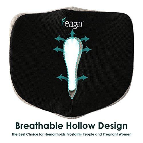 Memory Foam Seat Cushion, Premium Orthopedic Pad Relieve Back Pain, Tailbone Pain and Sciatica