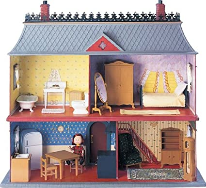 Learning Curve Madeline Doll House Old House In Paris With Staircase 2003