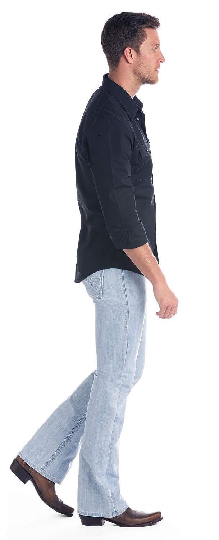 32W x 34L M0P1069 Rock /& Roll Denim Mens Pistol Diagonal Flat Seam and Small V Stitch Regular Fit Bootcut Jean