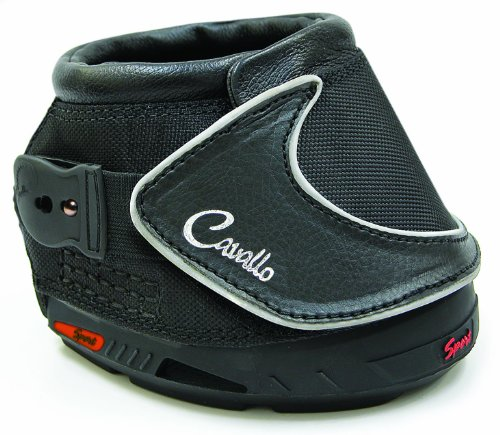 Cavallo Sport Slim Sole Hoof Boots Size 3 Black by Cavallo