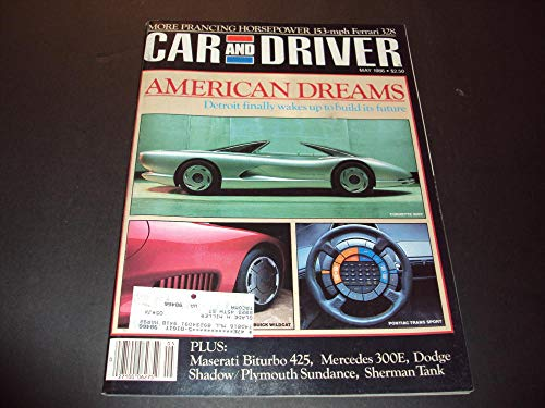 Car And Driver May 1986 Corvette Indy, Buick Wildcat