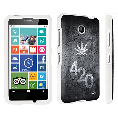 DuroCase Nokia Lumia 635 Hard Case White - (Leaves 420 Black)