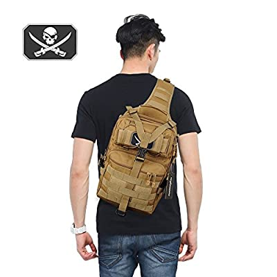 FUNANASUN Tactical Sling Backpack Bag Military Molle Assault Pack Rucksack Daypack for Outdoors Camping Hiking Hunting