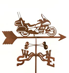 EZ Vane EZ1023-GR Touring Motorcycle Weathervane with Garden Mount
