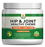 Hip & Joint Supplement for Dogs – Hemp Oil Infused Soft Chews Dog Treats w/Glucosamine, Turmeric, Chondroitin, MSM & Omega 3 6 9 – Supports Pet Mobility, Pain Relief & Arthritis – 120 Treat Bites Review