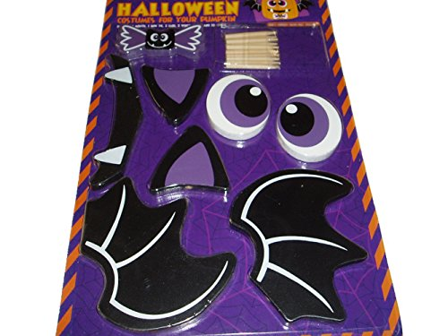 Halloween Costume for Pumpkin Decorating Push-ins Wood Bat -