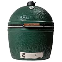 XXL Keramikgrill Big Green Egg Keramik XXL grün Ceramic Smoker Garten ✔ Deckel ✔ oval ✔ Grillen mit Holzkohle
