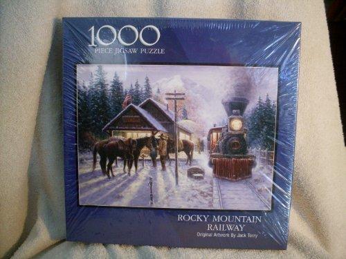 - Rocky Mountain Railway Original Artwork By Jack Terry 1000 Piece Puzzle