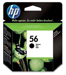 HP 56 - Cartucho de tinta Original HP 56 Negro para HP DeskJet 9680gp, 5550, 450cbi, 450ci; HP PSC 2175, 1210, 1216, 1315, 2210v, 2210xi, 1350, 2105, 2110, 2210,